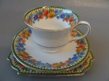 AYNSLEY VINTAGE ART DECO TRIO CHRYSANTHEMUMS CUP SAUCER AND TEA PLAT
