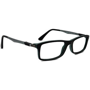 Ray-Ban Eyeglasses RB7017 5197 Black/Green/Gunmetal Rectangular Frame 54[]17 145