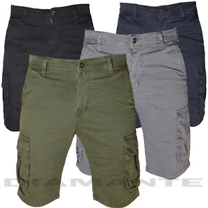 Bermuda Uomo Cargo pantaloni corti con tasche laterali Multitasche nuovo 21