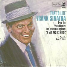 """Frank Sinatra-That's Life/September Of My Years-w/PS-45 RPM -7""""-single-pop-vinyl"""