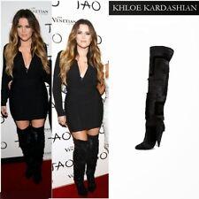 TOM FORD Runaway OTK Kardashian Boots Patchwork Fur Geometyric 36 EU/ 6 US $3500