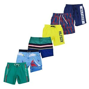 Tommy Hilfiger Mens Swim Trunks Bathing Suit Bottoms Graphic Swimwear Shorts Nwt