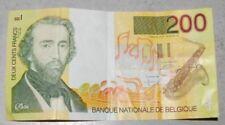 billet de 200 francs belge, adolphe sax
