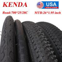 KENDA MTB 26*1.95 Road Bike 700*25/28C Tire 60TPI Wearable Non-slip Drain Tires