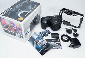 Blackmagic Pocket Cinema Camera 4k 6k 12bit RAW Canon EF UHD with Small Rig Cage