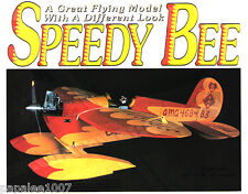 "Model Airplane Plans (RC): Speedy Bee 40"" 4-Chan for .09-.26ci or Turbo 10 Elec."