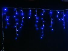600 LED 14.9M BLUE ICICLE CHRISTMAS LIGHTS WITH 8 FUNCTIONS & MEMORY