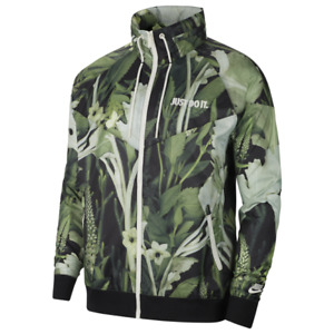 Nike Windrunner Woven Floral JDI Just Do It Jacket Green CK8075-083 Men's S-XXL