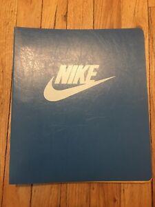 Vintage Nike 3 Ring Binder Blue Very Rare Used