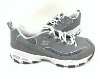 NEW! Skechers Women's D'LITES ME TIME Lace Up Shoes Gray/White #11936 202QR tz