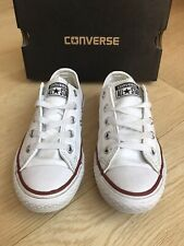 CONVERSE ALL STAR LEATHER TRAINERS * BOYS UNISEX Shoes BOX UK INFANT 12 (EU 30
