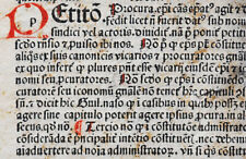 A sheet from a 1486 incunable – Nuerenberg – Anton Koberger