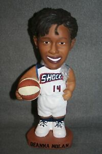 "DEANNA NOLAN Detroit Shock BOBBLE DOBBLES Bobblehead WNBA SGA Basketball 7.5"""