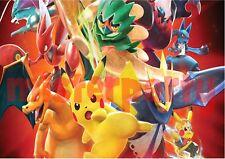 Cialda - Ostia per torte Pokemon Pikachu rettangolare A4 o A3