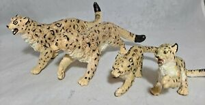 Vintage Safari 1992 Snow Leopard family adults + cubs 4pc lot of 4 rare