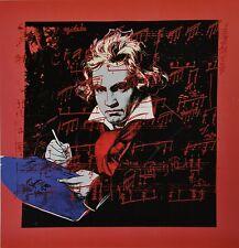 Andy Warhol Kunstdruck Offset Lithograph 48x48 Ludwig van Beethoven 1987 Porträt