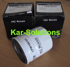 MG Rover Oil Filter x 2 25 45 75 MGZR MGZS MGZT MGF MGTF TF F K Series LPW100181