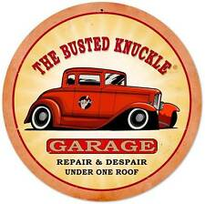 Busted Knuckle Garage Hot Rod Repair Retro Metal Sign Man Cave Shop Club Bus069