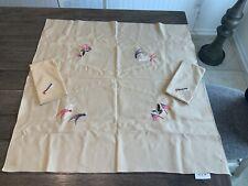 Vintage Embroidered Picnic Set  Tablecloth Napkins Patriotic USA  30 x 30