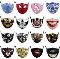 UK Women Men Face Mask Protective Reusable Washable Dust Pollution Fashion Masks