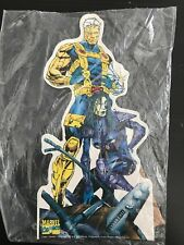 """VINTAGE CABLE & DOMINO MINI STANDEE 9-11"""" NEW 1995 Marvel Comic Images Deadpool"""