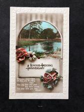 Vintage Greetings Postcard: #AA510: Joyous Wedding Anniversary