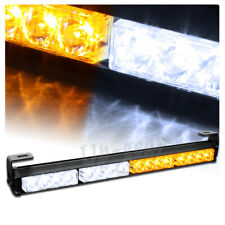 """Universal 18"""" White Amber LED Traffic Advisor Emergency Warn Strobe Light Bar"""