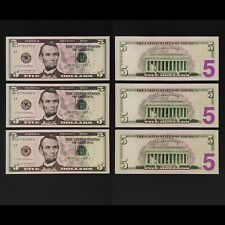 United State 2013, USA $5 Dollars UNC  P539 G7 3 Consecutive