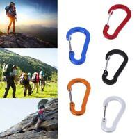 5pcs Gourd Spring Outdoor Hook Camping Carabiner Keychain Backpack Buckle Clip
