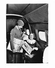 Vintage Boeing Flight Attendant B & W Photo
