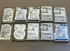 """Lot of 10 160gb SATA 2.5"""" hard drive Various Manufacturers"""