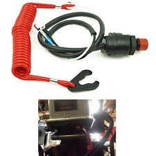 Outboard Engine/Motor Scooter ATV Kill Stop Switch & Safety Tether For Yamaha