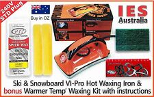 Ski & S'board Vi Pro Hot Waxing Iron & Bonus Warmer Temp wax Kit, DIY & save $