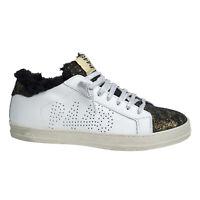 Damen Schuh Low Sneaker A8JOHN - von P448 - Farbe WHI/MON Weiß Gold