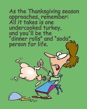 METAL MAGNET Thanksgiving Raw Turkey Means Soda Person For Life Humor MAGNET