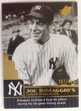 2009 SPx Joe DiMaggio Career Highlights #JD37 Joe DiMaggio 367/425 Yankees!!
