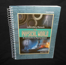 BJU 9th Grade PHYSICAL WORLD LAB MANUAL Teacher's Edition Science
