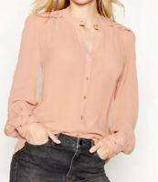 S159# Nine By Savannah Miller Embroidered Shoulder Top Light Pink Size 10 RRP£45