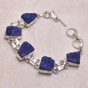 Blue Druzy Ethnic Handmade Bracelet Jewelry 18 Gms AB 70118