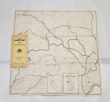 Vintage Rand McNally County Map - Sierra County - California - 1936