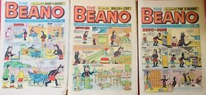 3 Vintage Beano Comics , 31st July -6th Nov -27 Th Nov 1970 - 51st Birthday #6