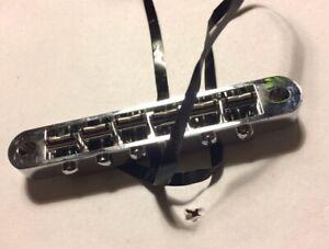 1st Gen Genuine Gibson Tronical Powertune Robot Tune-O-Matic Bridge, 1.0 + Cable