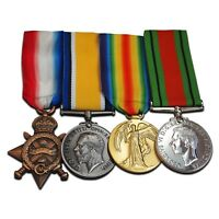WW1 Medals 1914-15 Star British War Victory & Defence medal Royal Navy Army NEW
