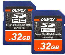 64GB 2x 32GB Class 10 Memory Card 32G SD HC SDXC Ultra High Speed Camera
