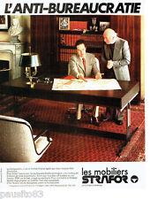 PUBLICITE ADVERTISING 036 1978  les mobiliers de bureau Strafor ***