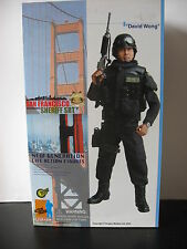 "1/6 12"" 30cm GI JOE ACTION MAN DRAGON DAVID WONG SAN FRANCISCO SHERIFF POLICE"