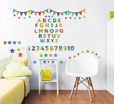 wandtattoos mit zahlen buchstaben f r kinderzimmer g nstig kaufen ebay. Black Bedroom Furniture Sets. Home Design Ideas