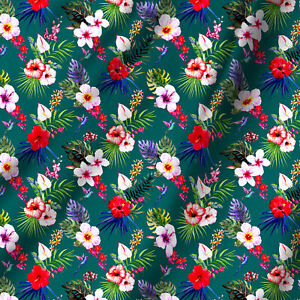 Beautiful Leaf Printed Fabric Cotton Light Weight Cloth Sell By the Yards