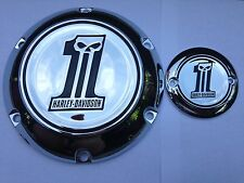 Harley No1 willie g skull derby and timer cover sportster xl 883 1200  2004+