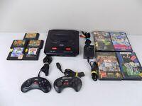 Sega Mega Drive II 2 Console PAL Console + 2x Controllers + 9x Games - TESTED!